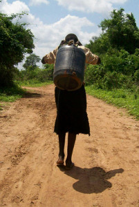 Mercy used to walk 16km every day to fetch water